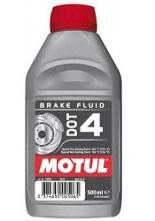 Líquido de frenos para moto de Repsol, Castrol y Motul.